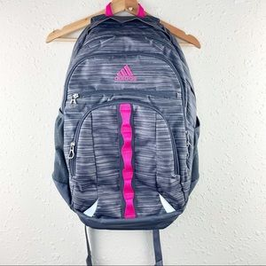 Adidas Pink Heather Gray Laptop Backpack